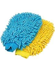 MR.SIGA Microfiber Car Wash Mitt, Pack of 2, Blue & Yellow