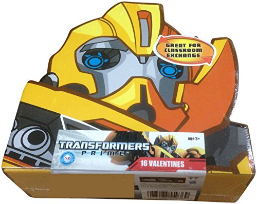 Valentines Day Cards 16 Pack - Transformers Prime By Paper Magic Group ()