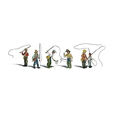 Fly Fishermen HO Scale Woodland Scenics: Toys & Games