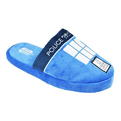 Doctor Who Official Adult Tardis Mule Slip-On Slippers - One Size UK 8-10