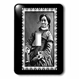 3dRose lsp_160749_1 African American Woman C. 1850 Black and White Photograph Single Toggle Switch