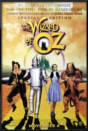 POSTER STOP ONLINE The Wizard of Oz - Framed Movie Poster/Print (Special Edition/Yellow Brick Road) (Size: 27