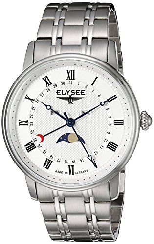 Elysee Men's 77002 Classic-Edition Analog Display Quartz Silver Watch