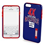 NFL New York Giants Hybrid Ai6 TPU SB Commemorative Cover (2 Piece), Blue, One Size