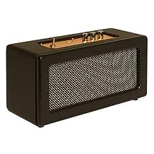 Sharper Image SBT3002BK Retro Wireless Bluetooth Speaker, Portable Stereo System (Black)