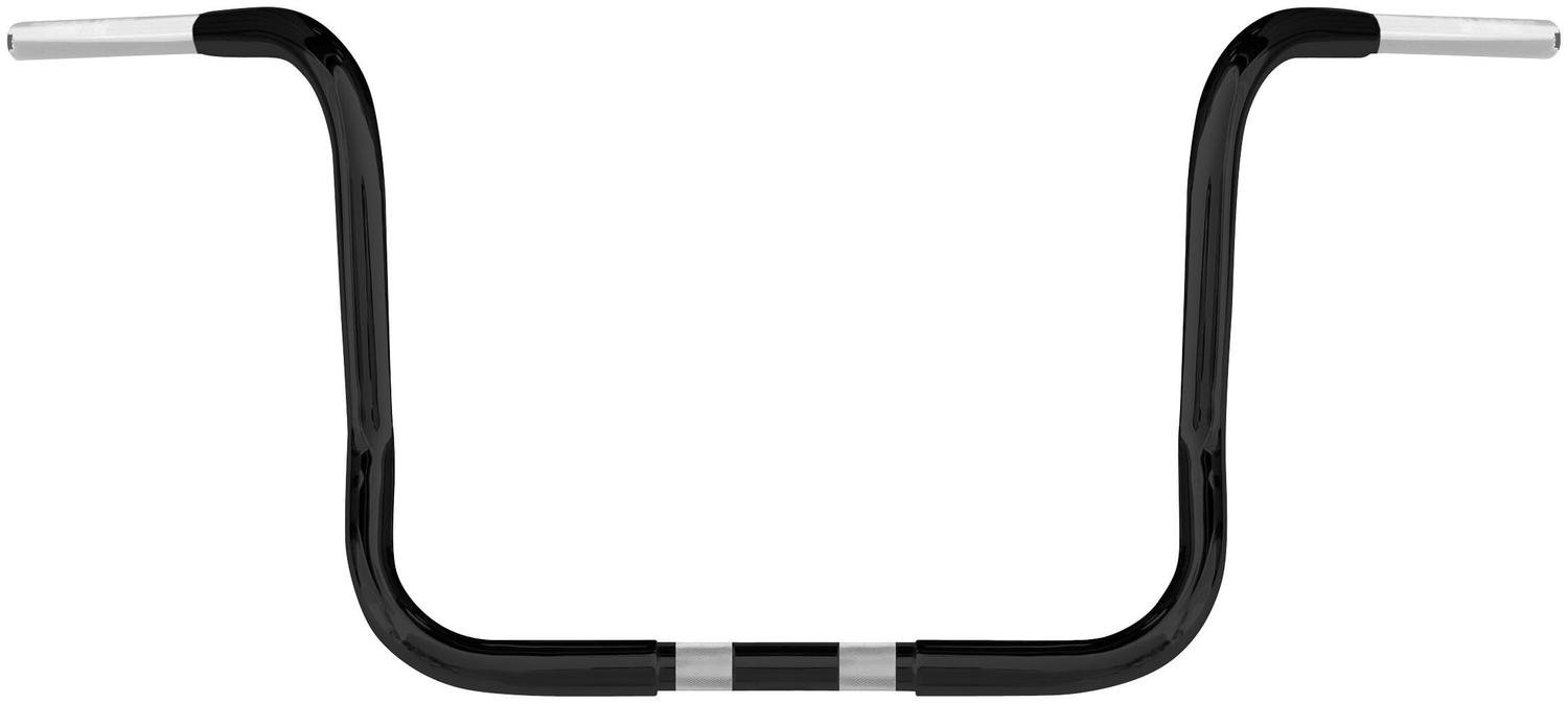 Wild 1 1 1/4in. Chubby Handlebar - 10in. Ape - Black , Handle Bar Size: 1 1/4in., Color: Black WO578B