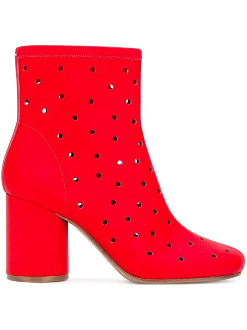 - MAISON MARGIELA Women's S39wu0083sy0550962 Red Leather Ankle Boots
