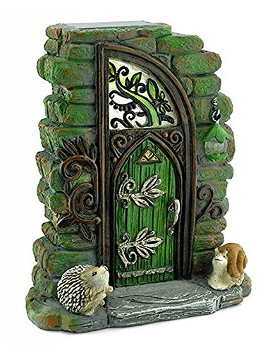 Georgetown Home and Garden Miniature Fairy Garden Erin Green Solar Fairy Door