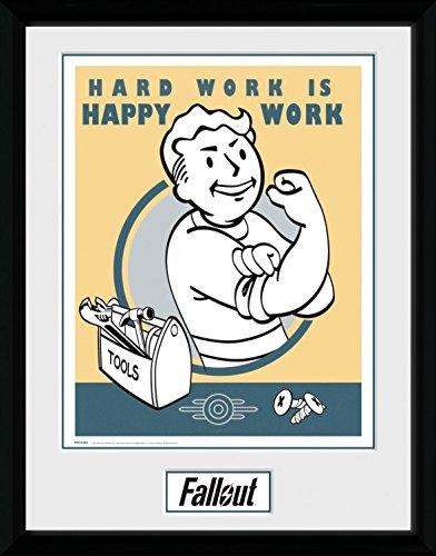 1art1 106845 Fallout - Hard Work Gerahmtes Poster Für Fans Und Sammler 40 x 30 cm