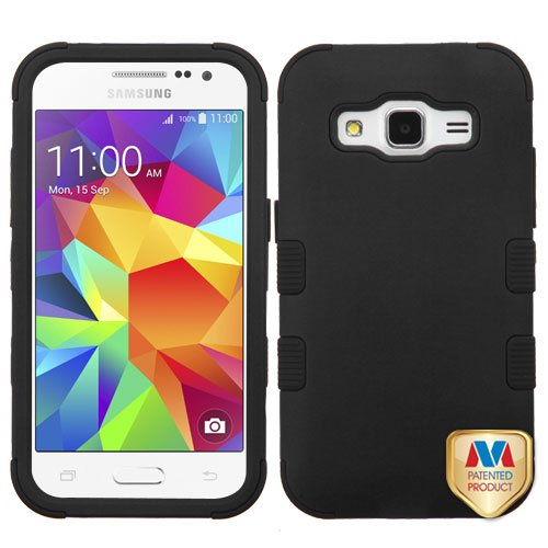 MyBat Cell Phone Case for Samsung Galaxy Prevail Lte/G360/Core Prime - Retail Packaging - Black