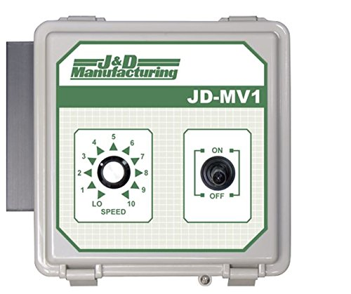 J&D Manufacturing JDMV1 Manual Variable Speed Control, Variable Output, 115V/230V, 50 Hz/60 Hz, 12 FL Amp, 1 Stage, (Amp 115 Volt Speed Controller)