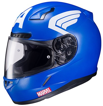 HJC Helmets CL-17 Motorcycle Helmet Marvel Series Captain America Blue Medium 51rXgKIjBEL