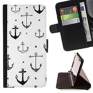Momo Phone Case / Flip Funda de Cuero Case Cover - Barco Buque Capitán ancla blanco limpio - Sony Xperia M4 Aqua