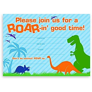 Amazoncom TRex Dinosaur Birthday Party Invitations 20 Count