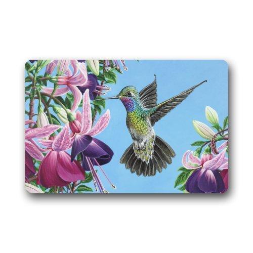 Hummingbird Flower Non-slip Rug