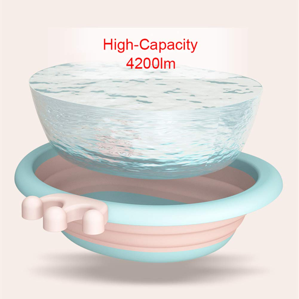 Multipurpose Portable Baby Wash Basin Washing Up Basin for Home Collapsible Wash Basin for Baby Outdoor Travelling Kitchen Pink