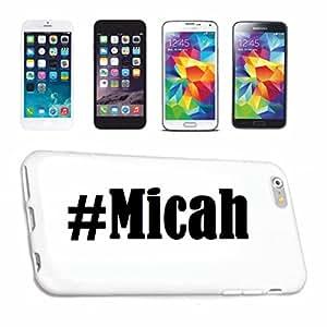 cubierta del teléfono inteligente Samsung S4 Galaxy Hashtag ... #Micah ... en Red Social Diseño caso duro de la cubierta protectora del teléfono Cubre Smart Cover para Samsung Galaxy Smartphone … en blanco ... delgado y hermoso, ese es nuestro hardcase. El caso se fija con un clic en su teléfono inteligente