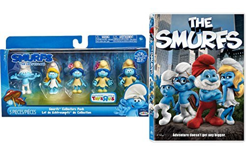 The Smurfs Movie & The Smurfs Exclusive Collectors Set 5-Pack Mini Figures from The Lost Village edition