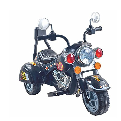Wlc Motorized Riding Toys, Premium Quality, Plastic Material, Black Color, Realistic Design, Ideal For Children Up To 4 Years Of Age, Easy Cleaning, 3-Wheeled & E-Book Home ()