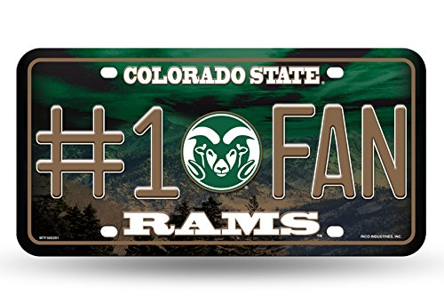 (NCAA Colorado State Rams #1 Fan Metal License Plate Tag )