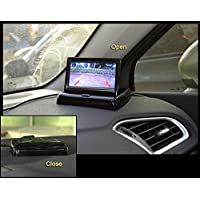 Foldable 4.3 Inch Color LCD TFT Rearview Monitor Screen for Car Backup Camera / DVD / CCTV
