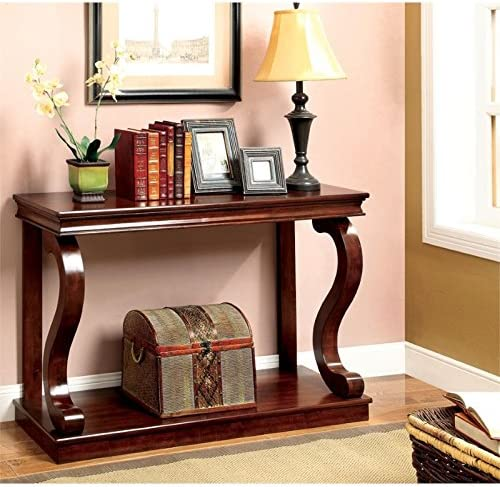 BOWERY HILL Console Table in Warm Cherry