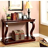 Bowery Hill Console Table in Warm Cherry Review