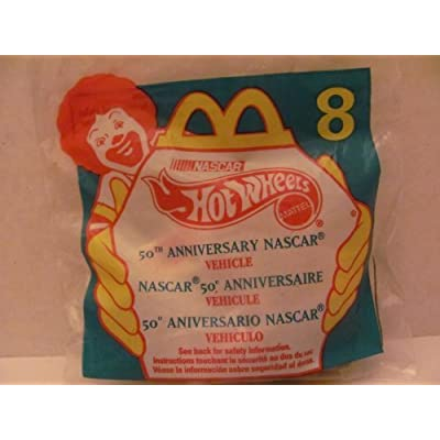 Hot Wheels Mattel McDonald's Happy Meal Toy Die Cast CAR - 50TH Anniversary NASCAR #94 - Bag #8 - 1998 / China (Comes in Original UNOPENED Bag) /for Children Age 3 and Over / May Contain Small Parts: Toys & Games