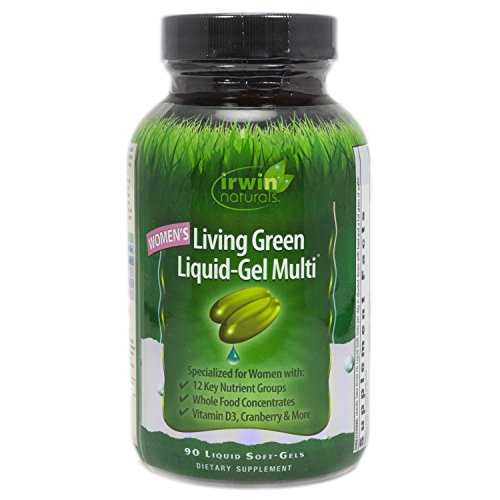 - Irwin Naturals Women's Living Green Liquid-Gel Multi Soft-Gels, 90-Count Bottle