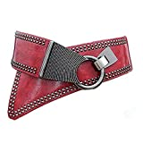 Waist Belt Women's Leather Fashion Wide Elastic Waistband With Punk Rivets Studs