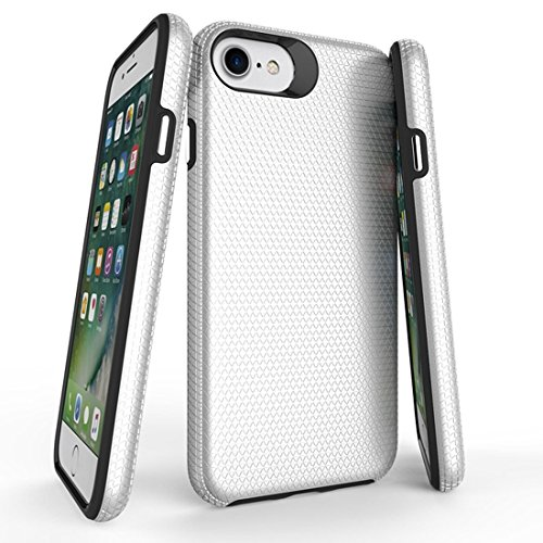 WANDAELITE for 8 & 7 PC + TPU Chrome Plated Press Button Anti-Slip Protective Back Cover Case New Mobile Phone Ultra-Thin Soft All-Inclusive ant (Color : Silver)