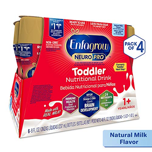 Enfagrow NeuroPro Next Step Toddler Ready to Feed Non-GMO Milk Drink - Natural Milk Flavor, 8 fl oz (24 count) - Omega 3 DHA, MFGM, Prebiotics, Iron, Vitamins (Packaging May Vary) (Best Supplement Brands 2019)