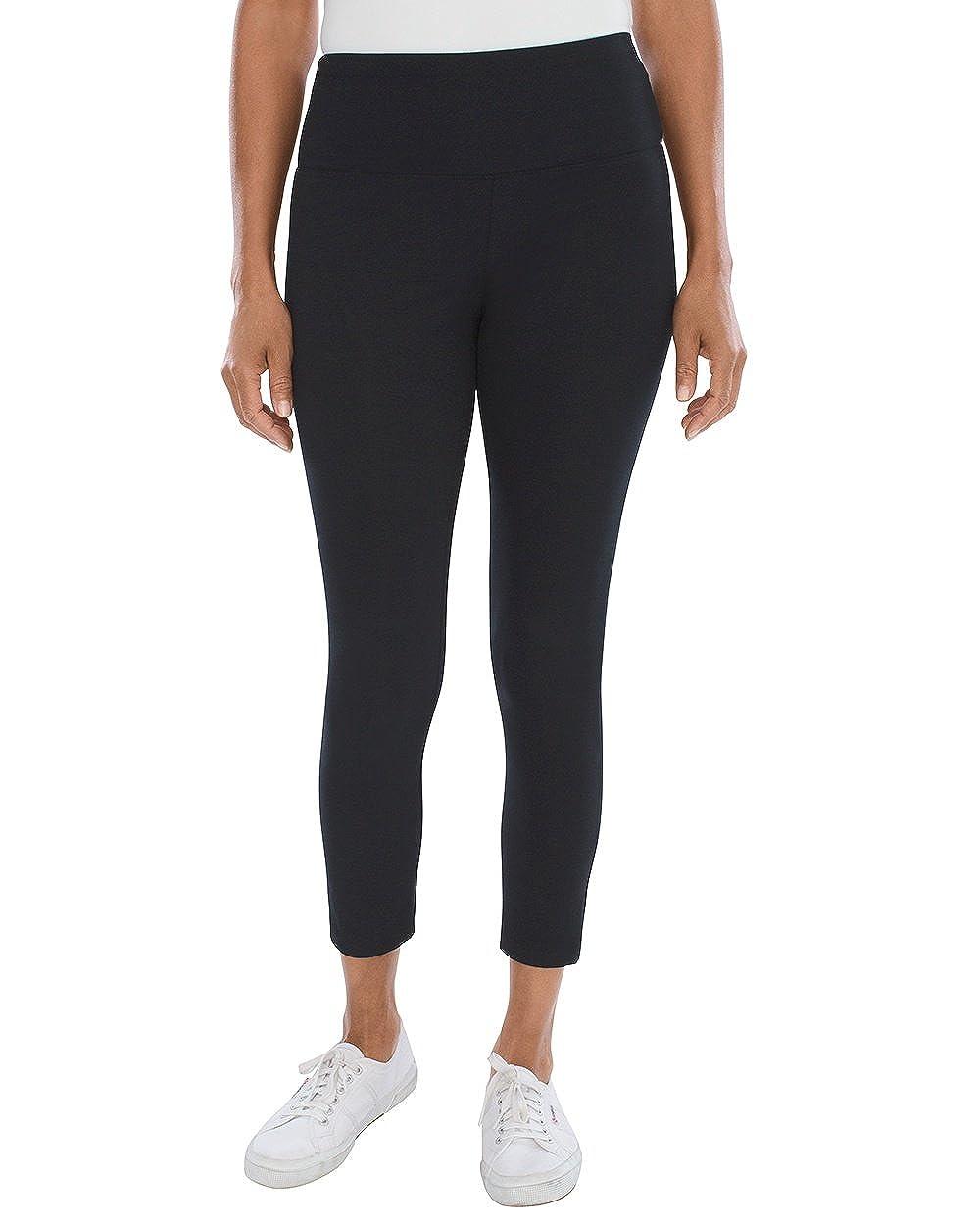 52fdad8056946 Chico's Women's Zenergy So Slimming Crop Leggings Black at Amazon Women's  Clothing store: