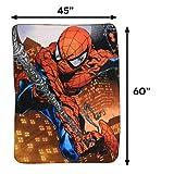Marvel Web Swing Fleece Throw Blanket