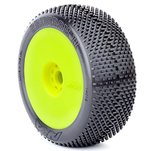 - AKA Products 14013VRY Racing Buggy Gridiron II Super Soft Evo Wheel Pre-Mounted Yellow Tire, Scale 1:8