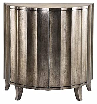 Stein World Furniture Gretta Cabinet, Silver Metallic