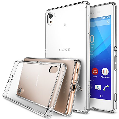 Xperia Z3 Plus Case - Ringke FUSION [All New Dust Cap & Drop Protection][Free Screen Protector&Back Film][CLEAR] Premium Clear Back Shock Absorption Bumper Hard Case for Sony Xperia Z3 Plus