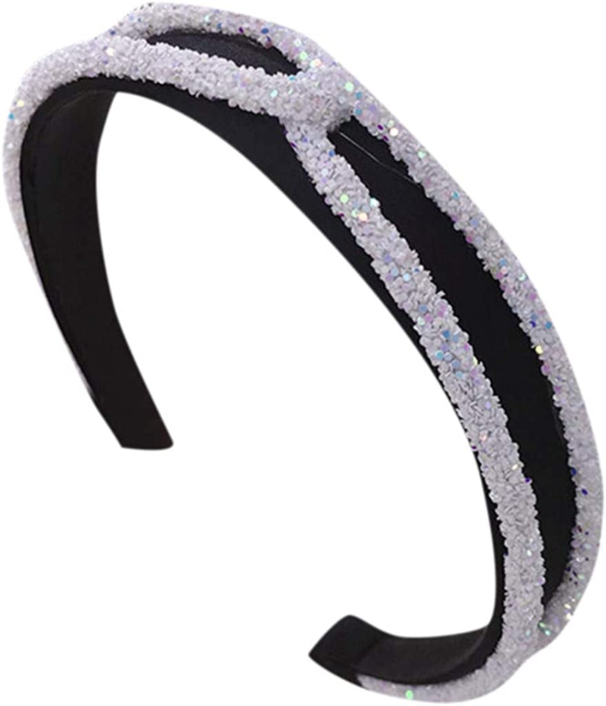 A Variety of Styles Headbands Clearance Womens Crystal Headband Fabric Hairband Head Wrap Hair Band Accessories