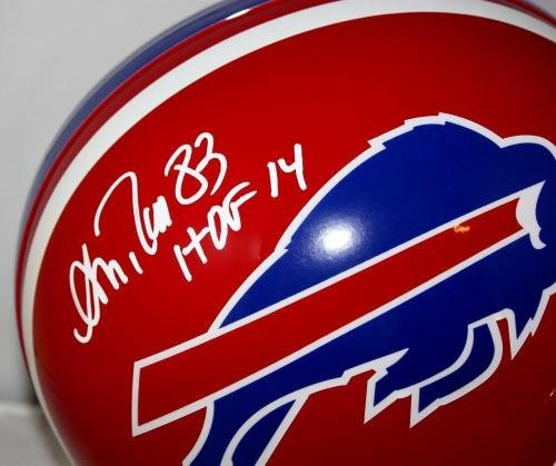 Andre Reed Signed Helmet TB 87 01 Full Size W HOF SGC Auth Autographed NFL Helmets