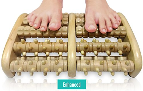 TheraFlow Dual Foot Massager Roller (XL) – Relax & Relieve Foot Pain & Plantar Fasciitis – 2017 Enhanced Model – Laminated Foot Chart & Detailed Instructions Included