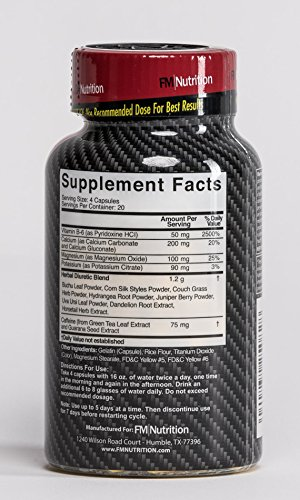 HydroShed - Diuretic, Rapid Water Loss, Defines Lean Muscle, 80 Capsules - 10 Day Supply by FM Nutrition (Image #1)