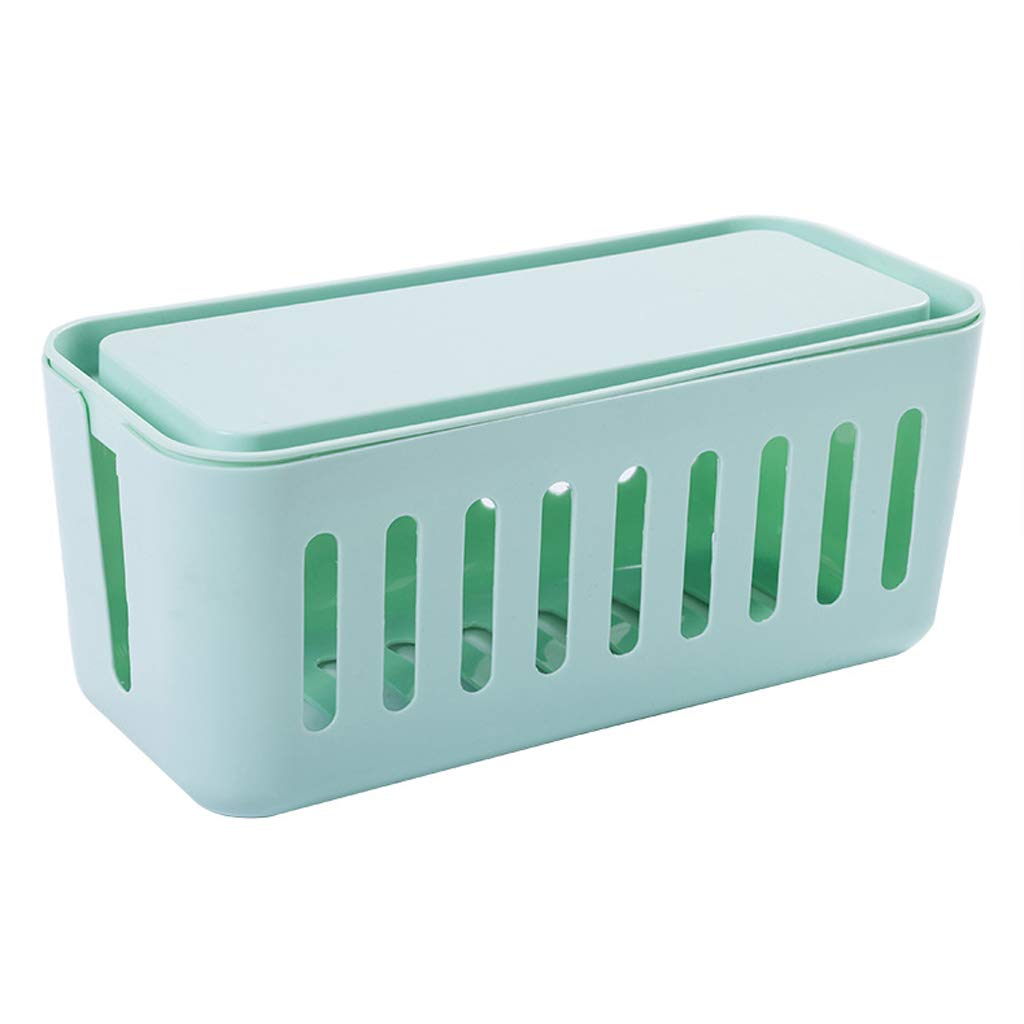 BAYUESHOP Paper Clip Holders Storage Box Wire Finishing Box Hollow Cooling Power Cord Cable Plug Storage Box Face Computer Cable Box Row Plug Wire Storage Box 5 Colors, Size: 14cmx14cmx31cm by BAYUESHOP//Office Products