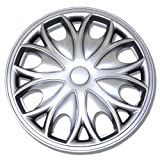 98 honda accord hubcaps - TuningPros WSC-526S15 Hubcaps Wheel Skin Cover 15-Inches Silver Set of 4