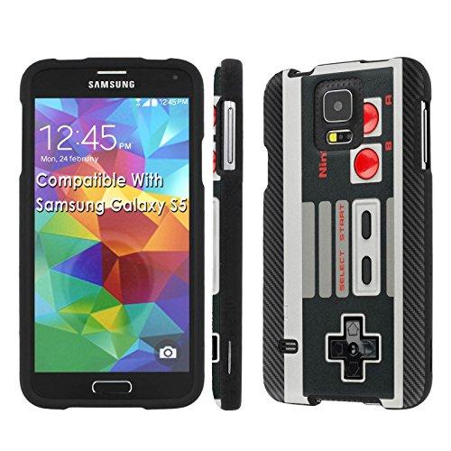 [Galaxy S5] [SlickCandy] [Black] Hard Protector Snap Designer Shell Case - [Nintendo Controller] for Samsung Galaxy S5