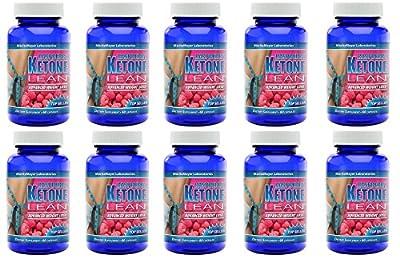 MaritzMayer Raspberry Ketone Lean Advanced Weight Loss Supplement 60 Capsules Per Bottle 10 Bottles