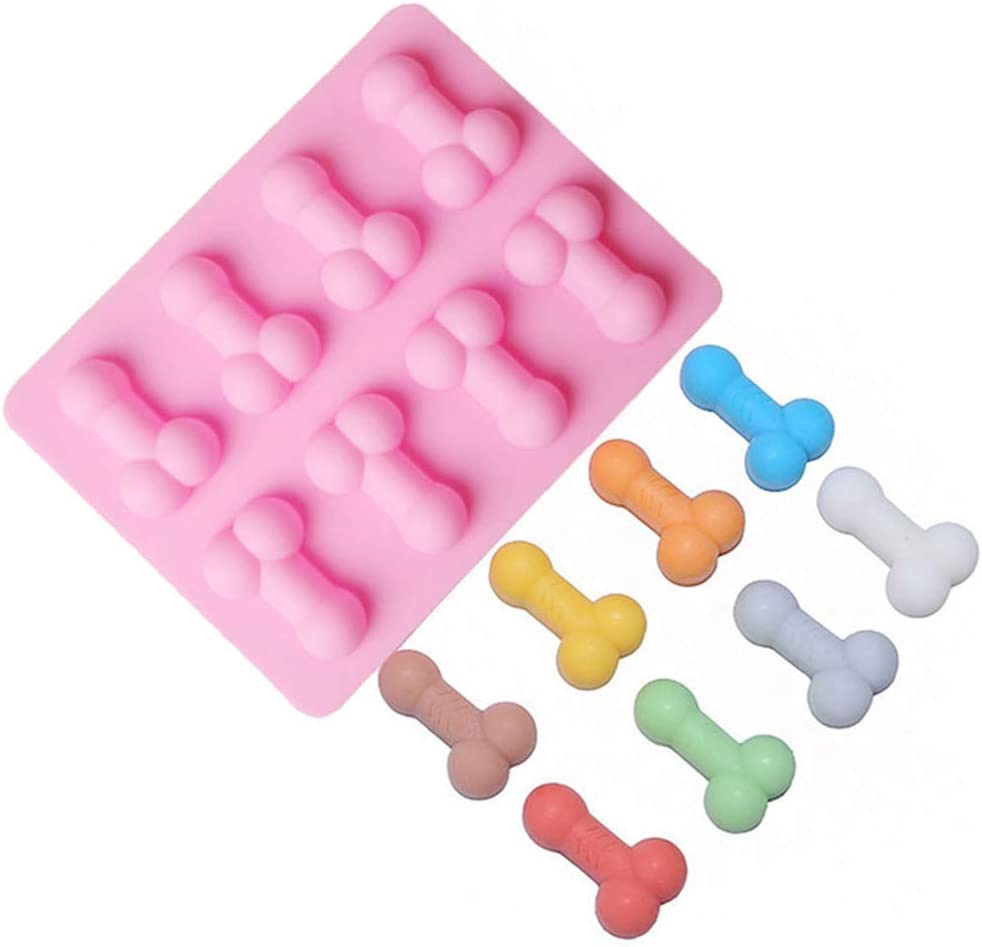 YOMENG Silicone Cake Mold,Funny Ice Cube Tray Silicone Mold Soap Candle Moulds Sugar Craft Tools Bakeware Chocolate Moulds