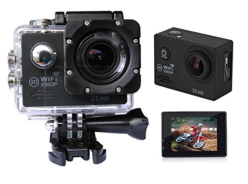 Sports HD DV Action Camera 2.0 inch GoldFish SJ7000 1080P WiFi 12MP Novatek Dashcam Waterproof by GoldFish
