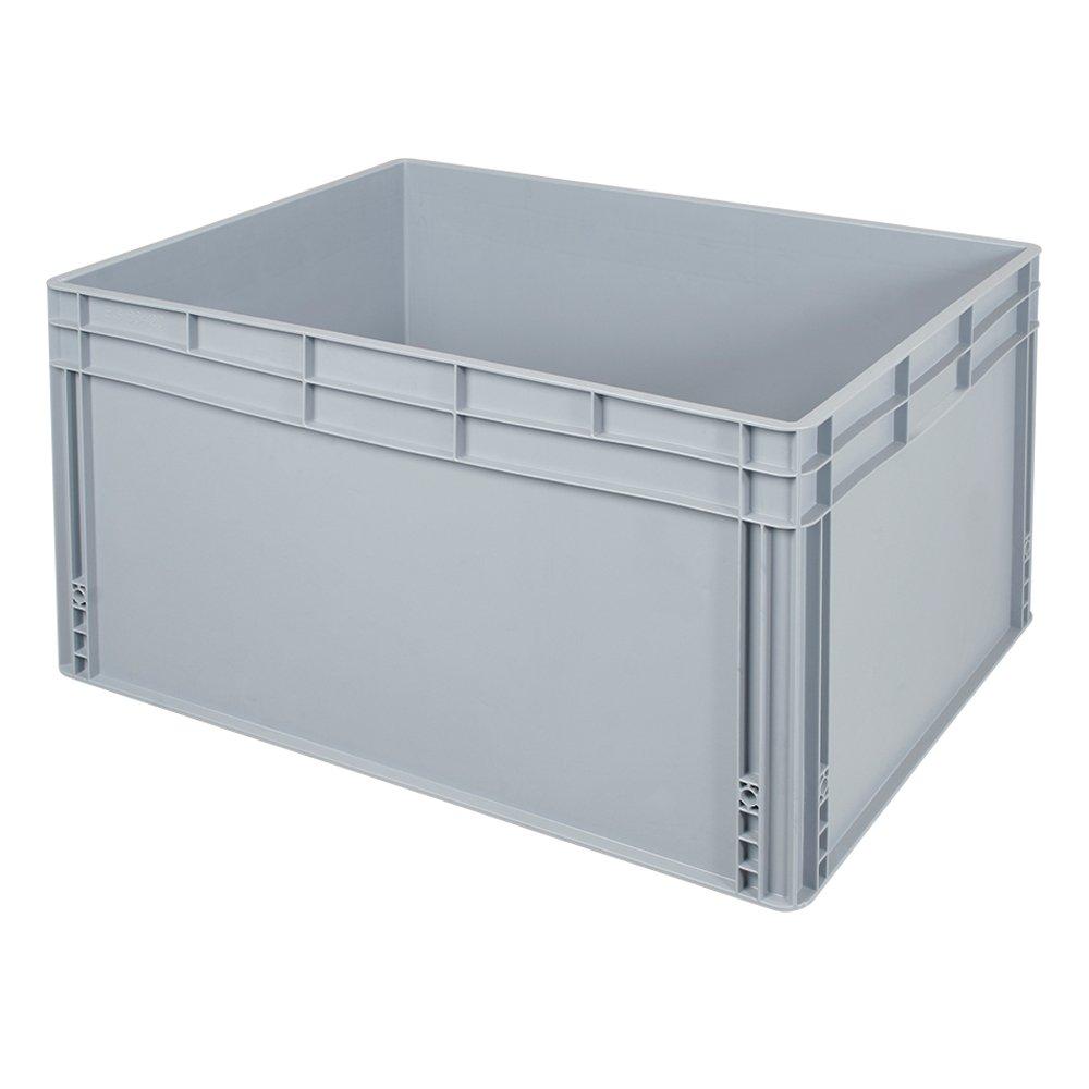Eurobehälter mit Griffleisten, LxBxH 800 x 600 x 420 mm, 175 Liter, lebensmittelecht, Industriequalität