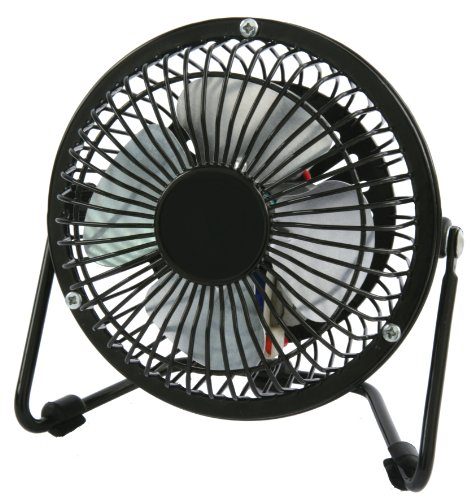 K'ul KUL KU33104 5-Wing Propeller High Velocity Personal Fan, 4-Inch, Black ()