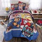 Nickelodeon Paw Patrol Soft Microfiber Comforter, Sheets and Plush Throw Bedding Set, Full Size 6 Piece Bundle